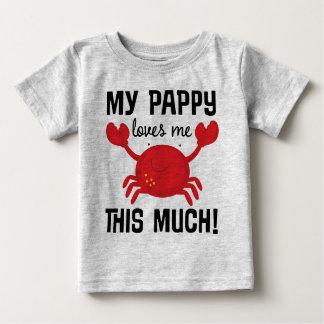私のPappyは私をこの多くの孫のTシャツ愛します ベビーTシャツ