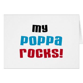 私のPoppaはTシャツおよびギフトを揺すります カード