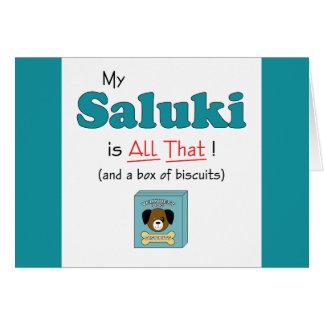 私のSalukiはすべてそれです! カード