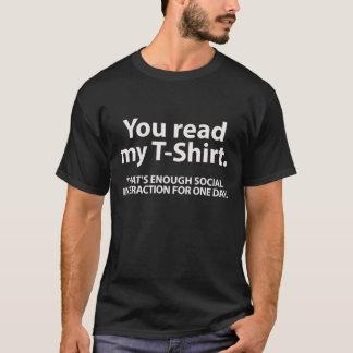 私のTシャツを読みました Tシャツ