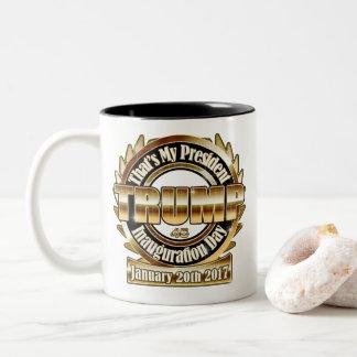私のTrump大統領の就任式日17のコーヒーカップ ツートーンマグカップ
