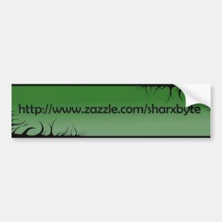 私のURL (緑、黒い文字)の バンパーステッカー