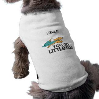 """""""私はあなたで行きます子犬座""""のTシャツ訓練します ペット服"""