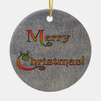 私はあなたなしでジーンの汚れたクリスマスを有します セラミックオーナメント