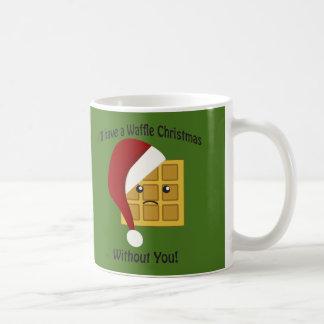 私はあなたなしでワッフルのクリスマスを有します コーヒーマグカップ