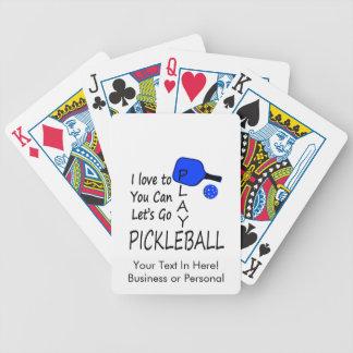 私はあなたにできます演劇のpickleballの行くために割り当てます青愛します バイスクルトランプ