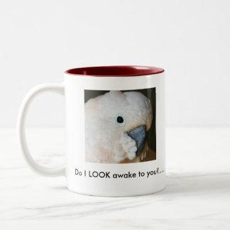 私はあなたに気づきます見ますか。.....コーヒー・マグ。 ツートーンマグカップ