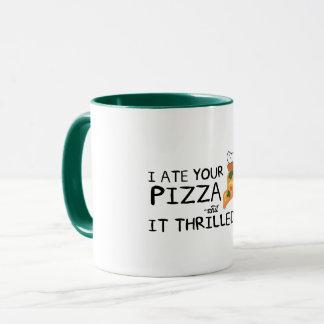 """""""私はあなたのピザ""""を11のozのコンボのマグ食べました マグカップ"""