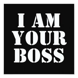 私はあなたのボスです。 カスタム カード