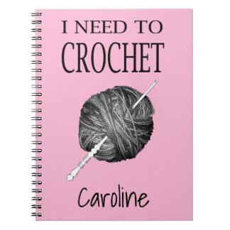 私はあなたの名前と名前入りかぎ針で編む必要があります ノートブック