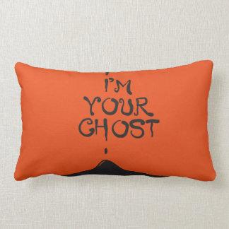 私はあなたの幽霊です! オレンジ及び黒いハロウィンの枕 ランバークッション