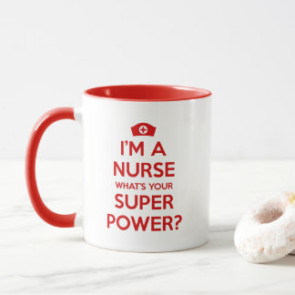 私はあなたの超出力のマグはである何ナースです マグカップ
