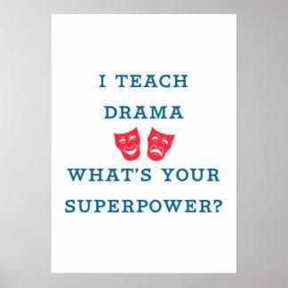 私はあなたの超出力はであるもの戯曲に教えますか。 ポスター