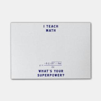 私はあなたの超出力はであるもの数学に教えますか。 ポスト・イット®ノート