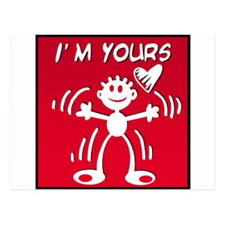 私はあなたの-バレンタインの棒の姿です ポストカード