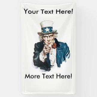 私はあなた自身のメッセージの米国市民カスタマイズほしいです 横断幕
