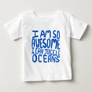 私はあります従って素晴らしい私は海洋をごまかしてもいいです。 スローガン ベビーTシャツ