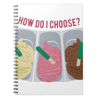私はいかに選びますか。 ノートブック