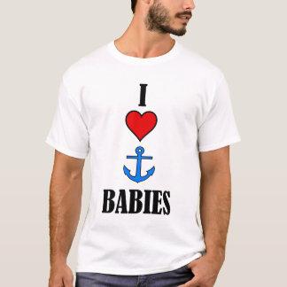 私はいかりのベビーを愛します Tシャツ