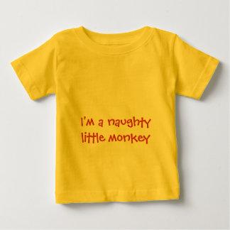 私はいけなく小さい猿のベビーのTシャツです ベビーTシャツ