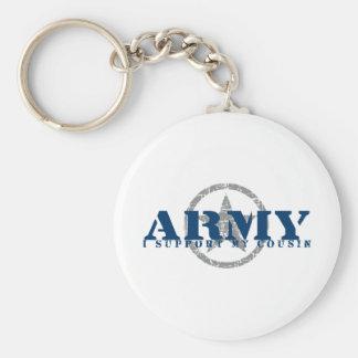 私はいとこ-軍隊--を支えます キーホルダー