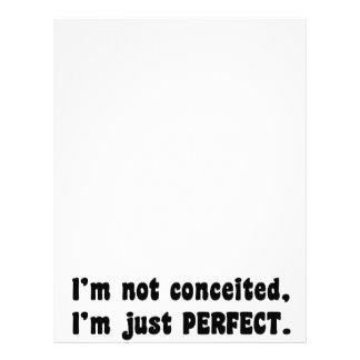私はうぬぼれていません、私ですちょうど完全 レターヘッド
