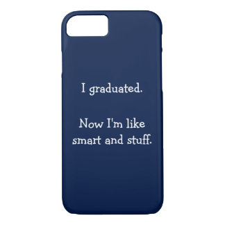私はおもしろいな引用文の卒業式の日のiPhoneの場合を卒業させました iPhone 8/7ケース