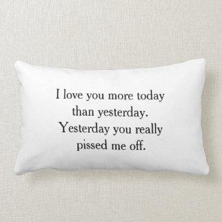 私はおもしろいな枕愛します ランバークッション