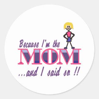 私はお母さんです ラウンドシール