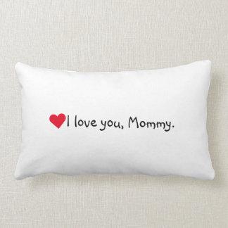 私はお母さんのお母さんの母の日の誕生日のハート愛します ランバークッション