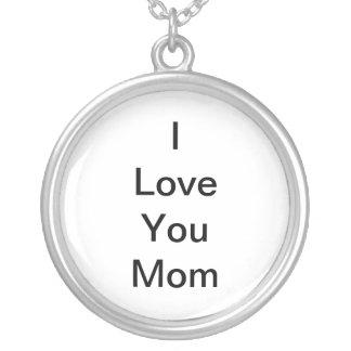 私はお母さんのネックレス愛します シルバープレートネックレス