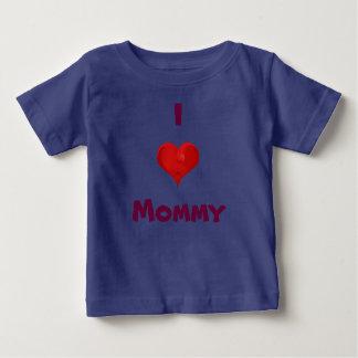 私はお母さんのベビーのTシャツを愛します ベビーTシャツ