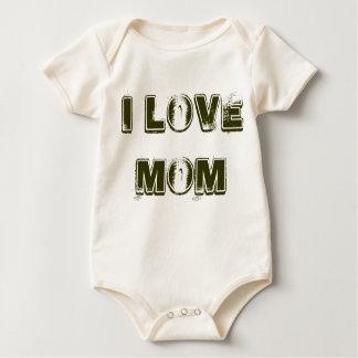 私はお母さんのロンパース1を愛します ベビーボディスーツ