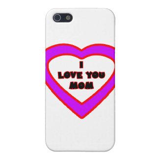 私はお母さんの薄紫のハート博物館Zazzl愛します iPhone SE/5/5sケース