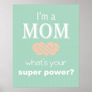 私はお母さんの軍事大国のプリントポスターです ポスター