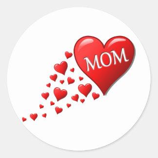 私はお母さんを愛します ラウンドシール
