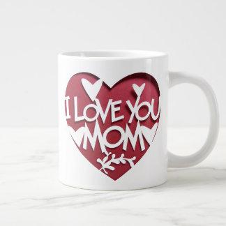 私はお母さん愛します ジャンボコーヒーマグカップ