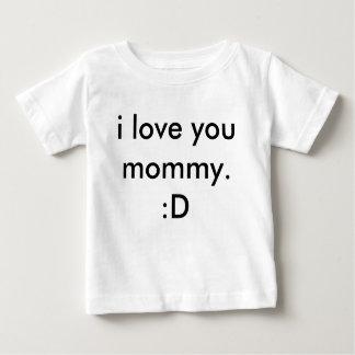 私はお母さん愛します。 : D ベビーTシャツ