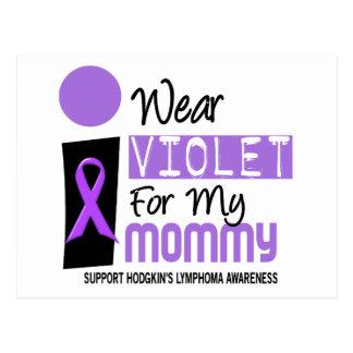 私はお母さん9のHodgkinsの私のリンパ腫のためのバイオレットを身に着けています ポストカード