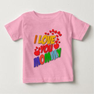 私はお母さん(前部) I愛お父さんの(背部)ワイシャツ愛します ベビーTシャツ