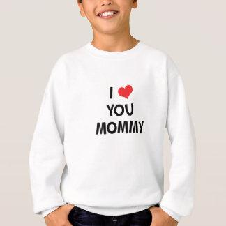 私はお母さん-幸せな母の日のギフトのTシャツ愛します スウェットシャツ