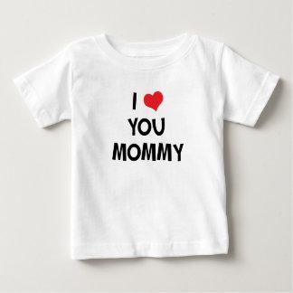 私はお母さん-母の日のギフトのTシャツ愛します ベビーTシャツ