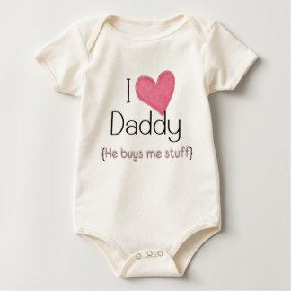 私はお父さんを…愛します(ピンク) ベビーボディスーツ