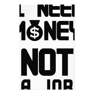 私はお金をない仕事(1)必要とします 便箋
