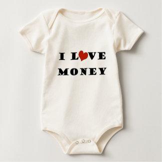私はお金を愛します ベビーボディスーツ