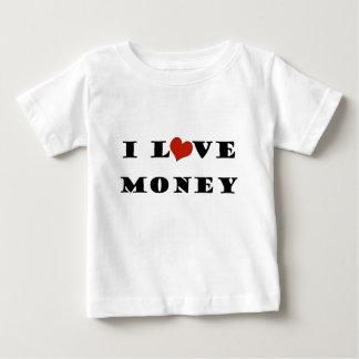 私はお金を愛します ベビーTシャツ