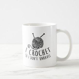 私はかぎ針で編みます従って私は解きません コーヒーマグカップ