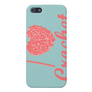 私はかぎ針編みのSpeckの場合を愛します iPhone 5 Cover