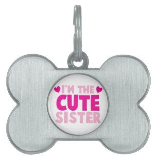 私はかわいい姉妹です! ペットネームタグ