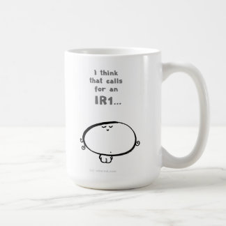 私はことIR1のための呼出し…考えます コーヒーマグカップ